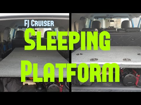 FJ Cruiser Sleeping Platform Build 2019