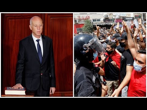 Tunisian president fires prime minister after violent protests.