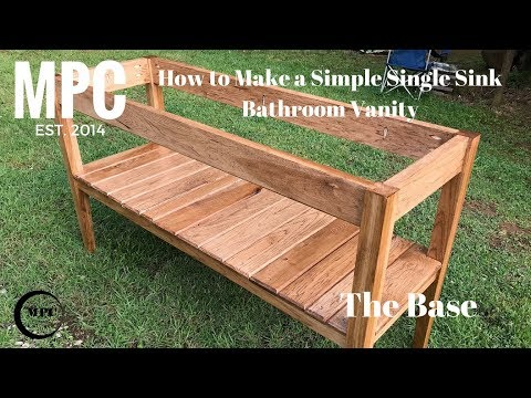 How to Make a Simple Single Sink Bathroom Vanity (The Base)