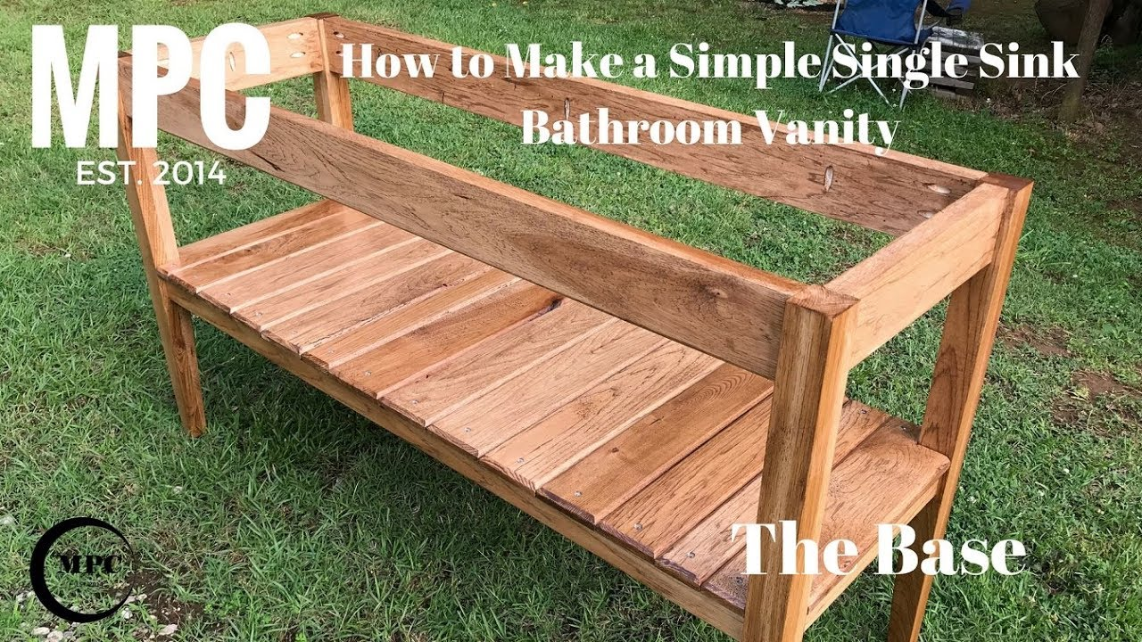 How To Make A Simple Single Sink Bathroom Vanity The Base