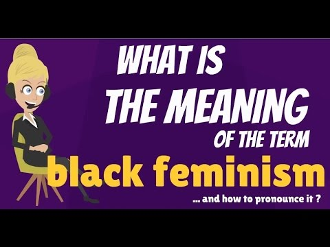 What Does BLACK FEMINISM Mean? BLACK FEMINISM Meaning U0026 Definition   YouTube