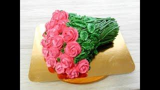 """УКРАШЕНИЕ ТОРТОВ, Торт """"БУКЕТ РОЗ"""" от SWEET BEAUTY СЛАДКАЯ КРАСОТА, Cake Decoration"""