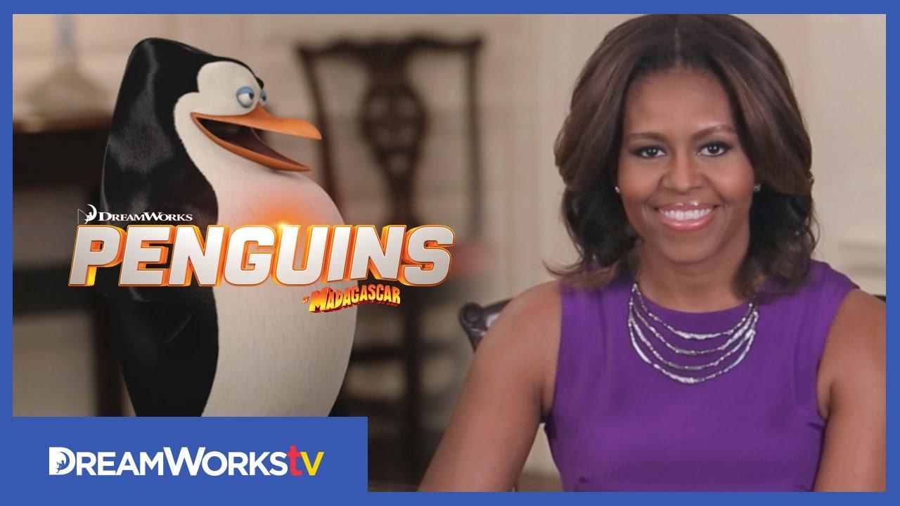 Michelle Obama Debriefs Penguins of Madagascar about