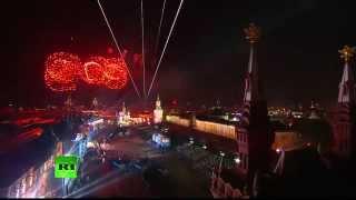 Прямая трансляция салюта Победы в Москве