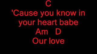 chord always be my baby, david cook
