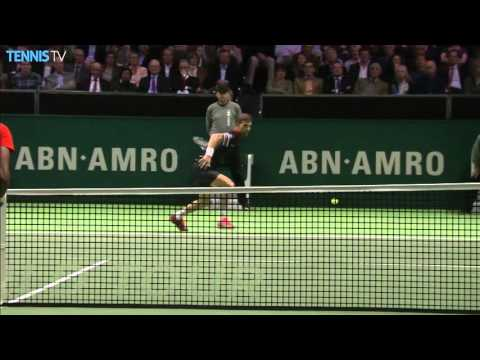 Klizan Hits Forehand Hot Shot In Rotterdam 2016 Final