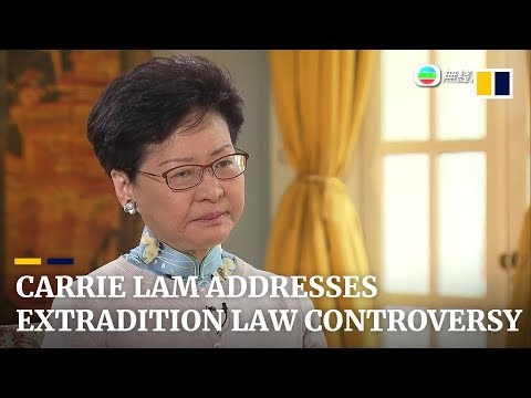 Carrie Lam addresses extradition law controversy