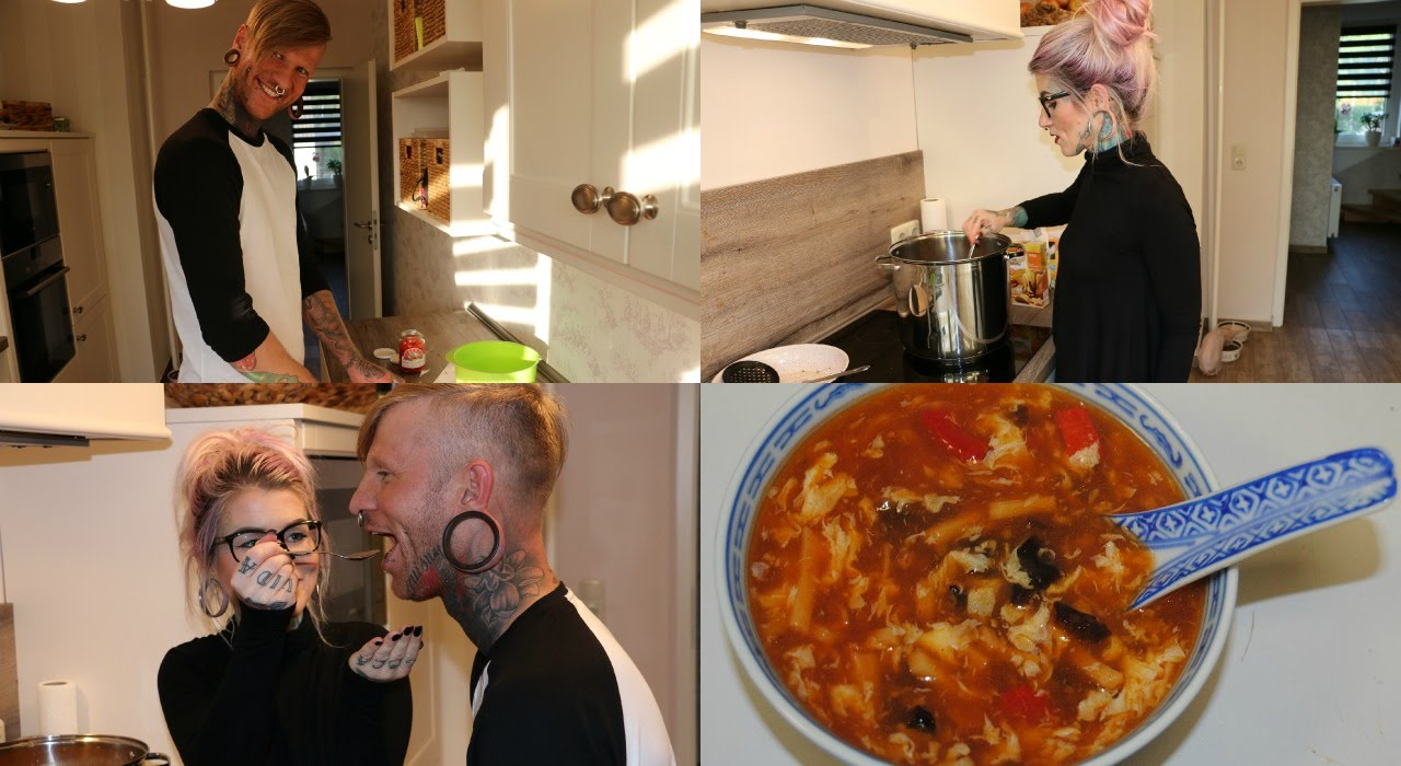 chinesische sauer scharf suppe cooking with julina march youtube. Black Bedroom Furniture Sets. Home Design Ideas