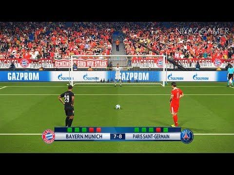 BAYERN MUNICH vs PSG | UEFA Champions League - UCL | Penalty Shootout | PES 2018 Gameplay PC