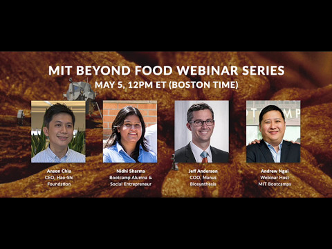 Hacking Science for Food Production – MIT Beyond Food Webinar #1 + Downloadable Podcast