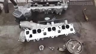 Mercedes OM642 oil cooler replacement Ölkühler erneuern