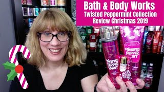 Bath & Body Works Twisted Peppermint Collection Review - Christmas 2019
