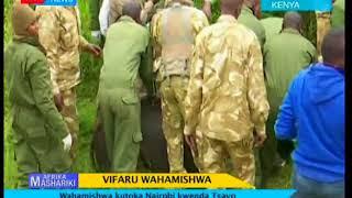 Vifaru wahamishwa kutoka mbuga la wanyama la Nairobi kwenda Tsavo I Afrika Mashariki