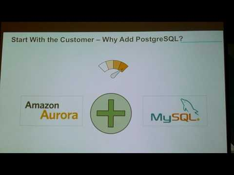 Mark Porter: Amazon Aurora with PostgresSQL Compatibility 1/2