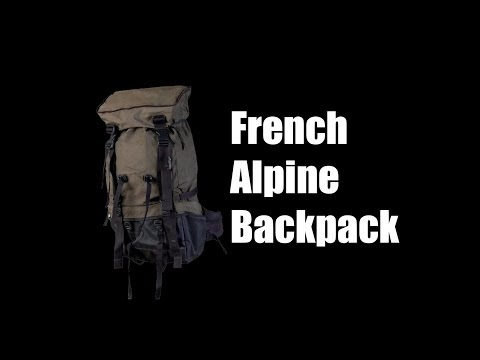 French Alpine Backpack - Military Surplus - Preview