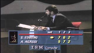 Classic Finals Agassi v Edberg 1990 Frankfurt