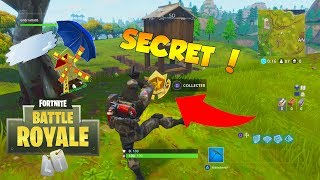 SECRET BASSIN MOULIN PARASOL Fortnite Batlle Royale !