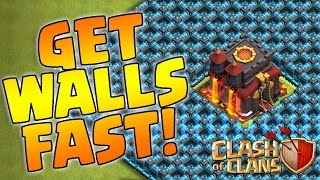 Clash of Clans - Fastest Way to Upgrade Walls with Cheapest Army (How I did it)