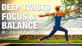 Video Deep Twists, Focus & Balance w/ Fallen Angel Yoga Class - Five Parks Yoga download MP3, 3GP, MP4, WEBM, AVI, FLV Maret 2018