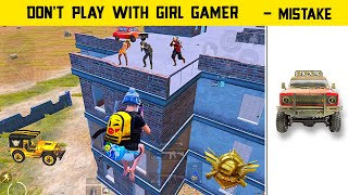 😤Don't Play With Girl Gamer Insane Driving Skills - Conqueror Top Ranking - Legend X