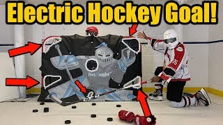 Prototype Electric Hockey Goal !? Net Knight Shooter Tutor - Series 1 Episode 2