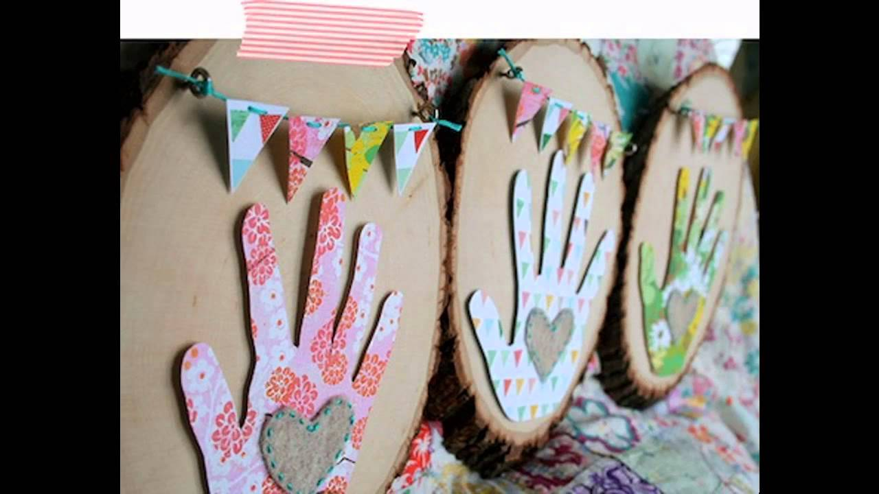 Mothers Day Craft Ideas Kids Part - 32: Mothers Day Kids Crafts - YouTube