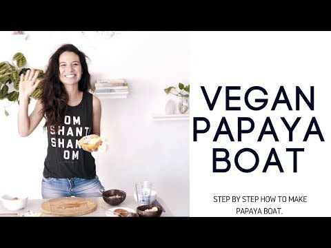 Vegan Papaya Boat | 1 min step by step