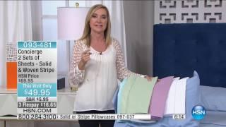 HSN | Concierge Collection Bedding 02.26.2017 - 06 AM
