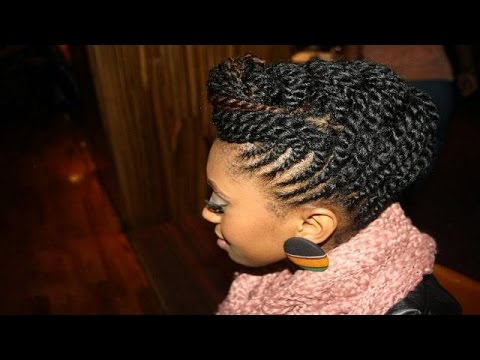 African American Braided Hairstyles - YouTube