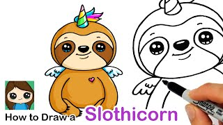 How to Draw a Slothicorn Sloth Unicorn
