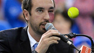 Tennis Player Disqualified After Smashing The Ball Into Umpire's Face