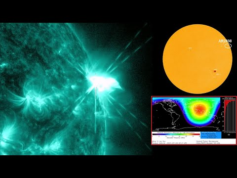 Strong M-Class Solar Flare and Radio Blackout