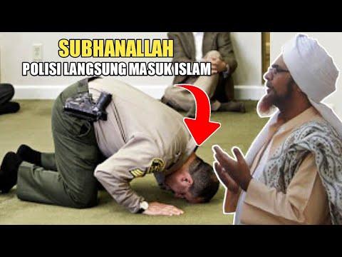 Detik-Detik Polisi Masuk Islam Di Hadapan Habib Umar Bin Hafidz