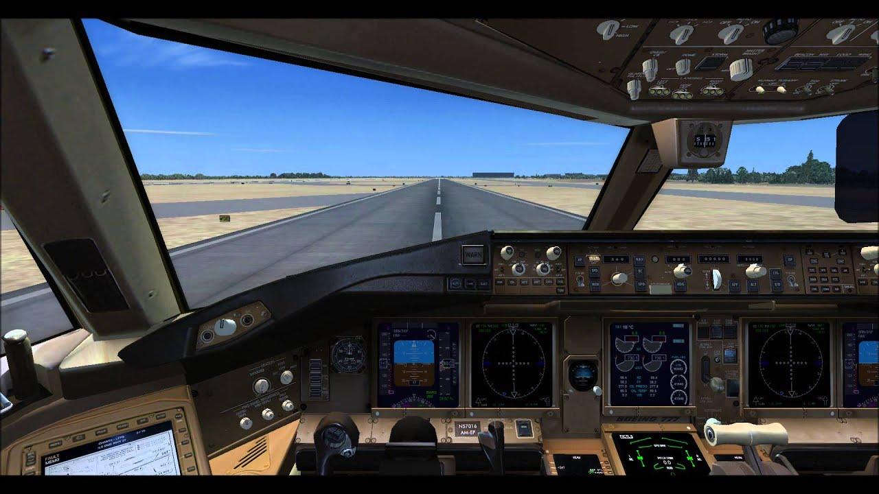 Fsx Wallpaper Hd Fsx Boeing 777 200er Take Off Virtual Cockpit View Hd