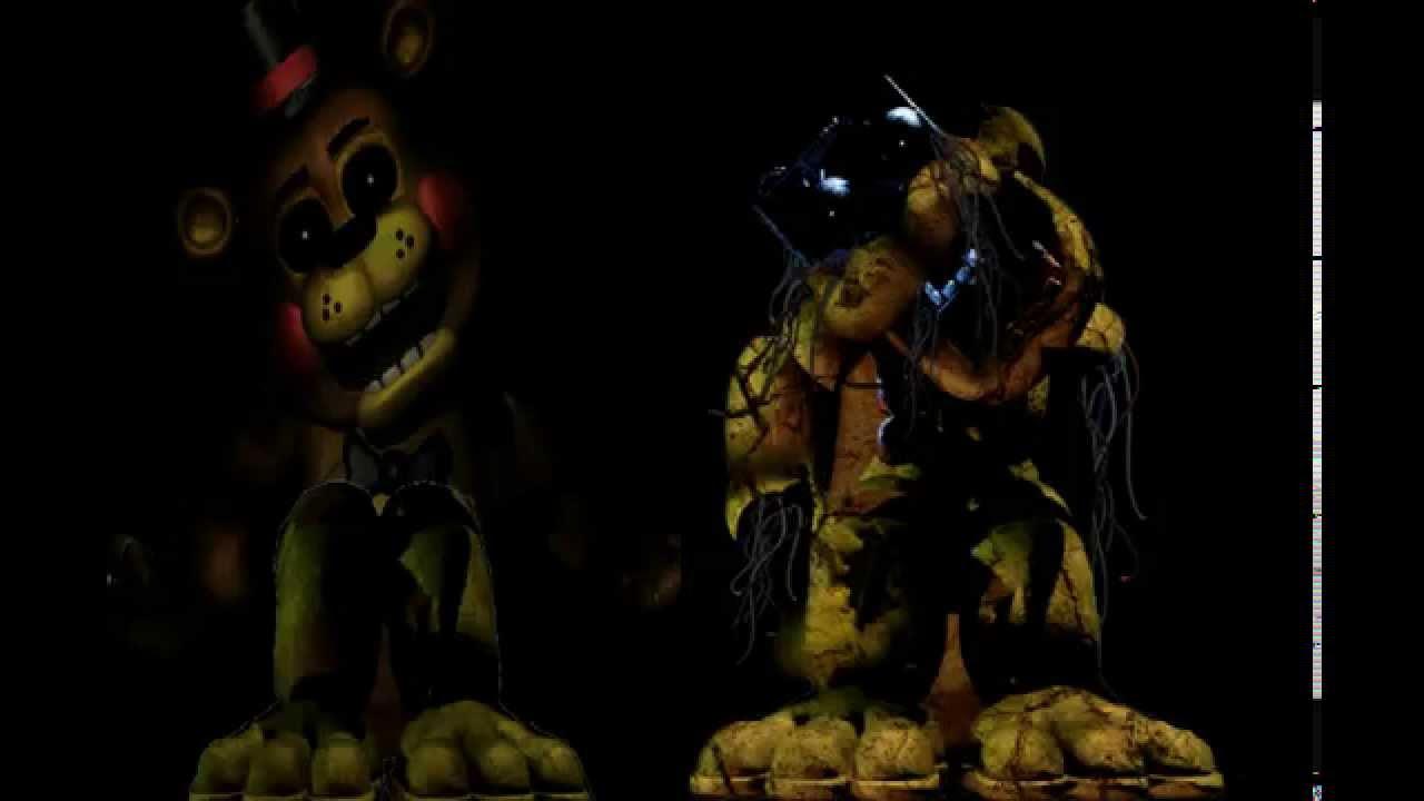 Golden Toy Freddy And Broken Down Golden Freddy Sing Fnaf