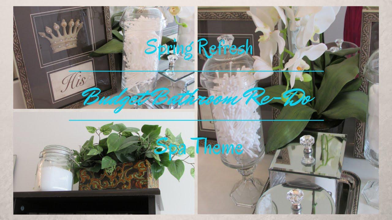 Budget Spring Refresh Master Bathroom ~Dollar Tree Inspired - YouTube