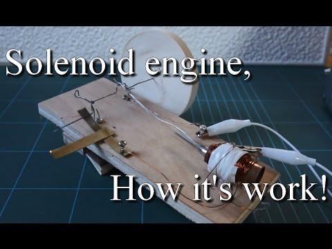 Comment fonctionne un solénoïde, moteur V1 / How works a solenoid engine!