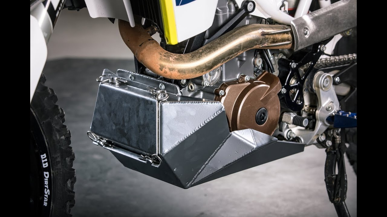 KTM 690 and Husqvarna 701 skid plate from RADE/GARAGE - YouTube