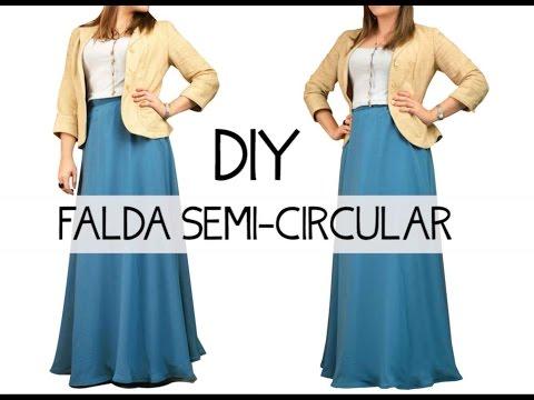 9506b1d3a Falda semi-circular DIY - YouTube