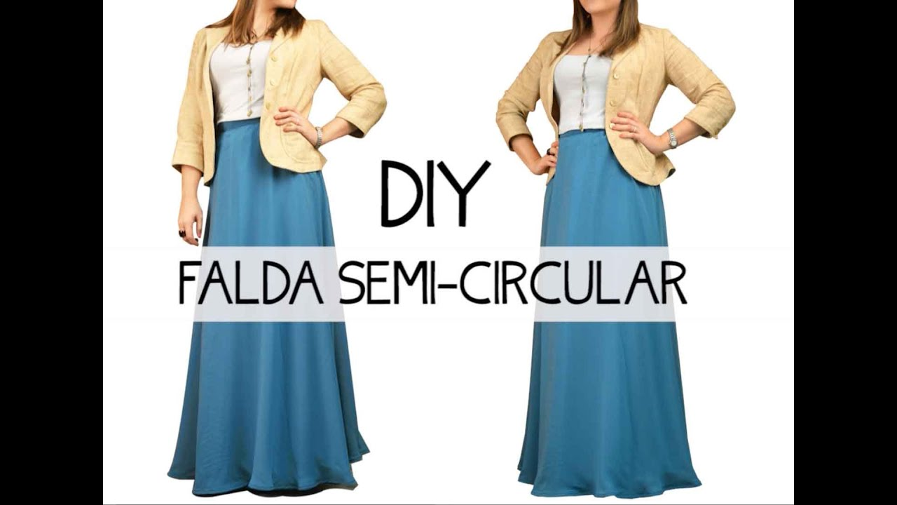 e2ae4b60df Falda semi-circular DIY - YouTube