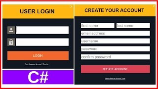 C# - How To Create Login And Register Form With MySQL DataBase In C#