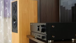 Sound check: KEF Cresta 3 Hi-Fi class stereo 2-way floor standing loudspeakers without speaker grills + Marantz PM-44SE special edition Integrated Stereo ...