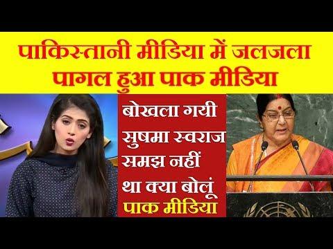 Pakistani media on sushma swaraj speech in UN Assembly 2017 | Pakistani media on Susma Swaraj Latest