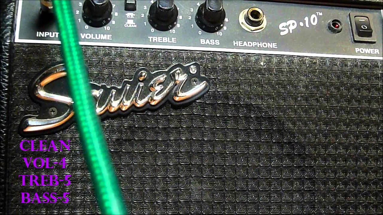 Squier by Fender SP-10 Demo. - YouTube