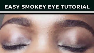 HOW TO DO A BLACK SMOKEY EYE MAKEUP TUTORIAL|SIMPLE BEGINNER FRIENDLY
