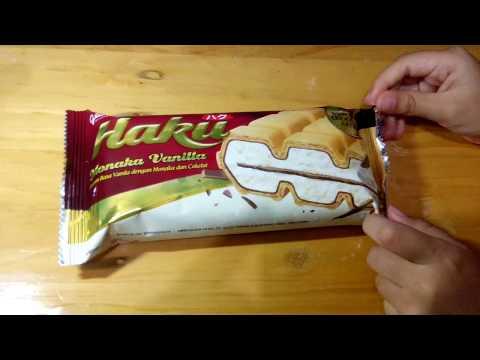 New! Es Krim Haku Monaka Vanilla dari Glico Wings