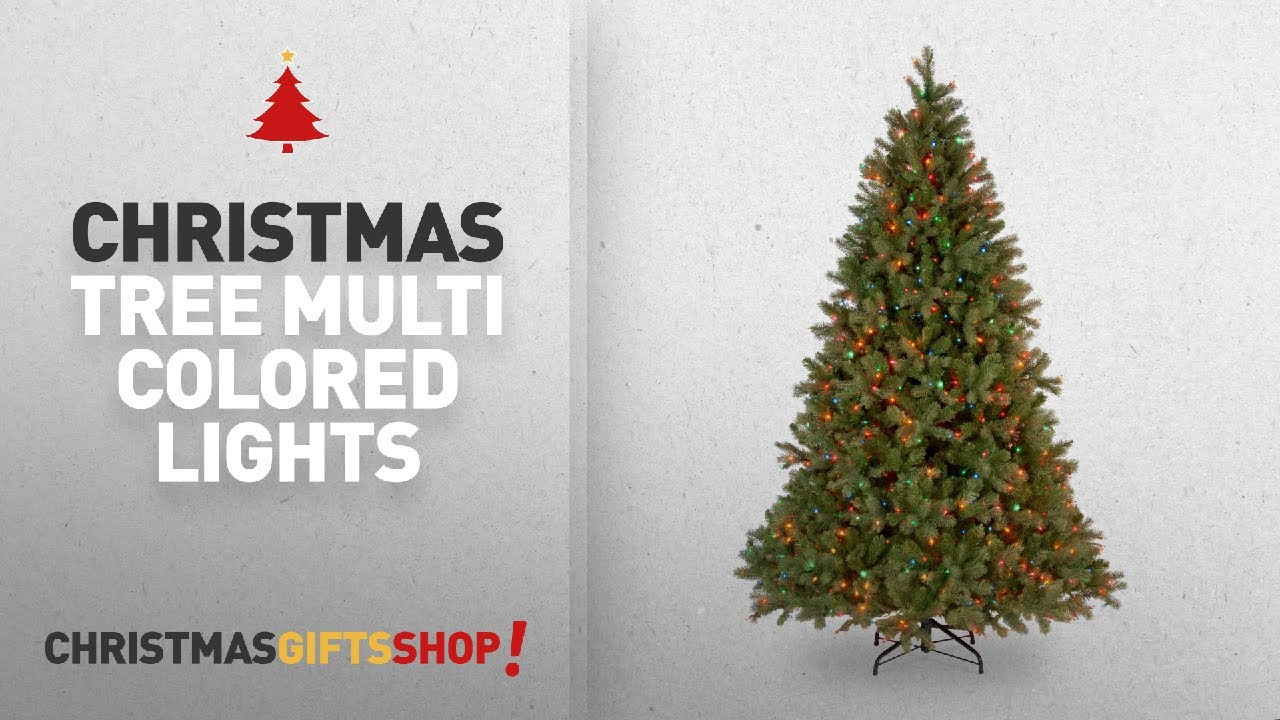 Most Popular Christmas Tree Multi Colored Lights: National