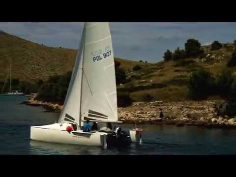Catamaran N700K in Croatia.