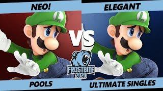 Frostbite 2020 SSBU Pools - NEO! (Luigi) Vs. Armada   Elegant (Luigi) Ultimate Singles - SSBU