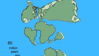Pangea Breakup and Continental Drift Animation